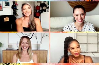 """Bianca Belair interviews """"Suicide Squad"""" stars Margot Robbie, Daniela Melchior and Mayling Ng"""